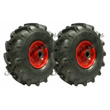 300-4 open centre tyre steel rim, rotovator, lug 260x85 - set of 2