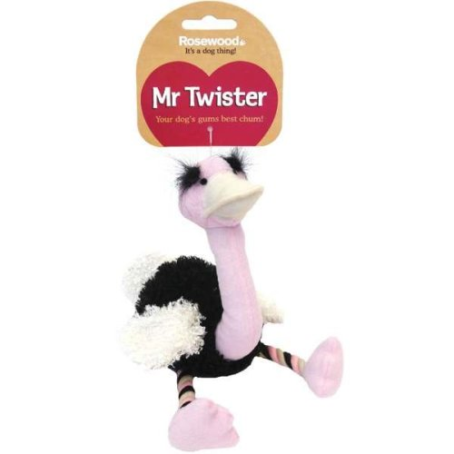 Rosewood Mr Twister Olga Ostrich Dog Toy