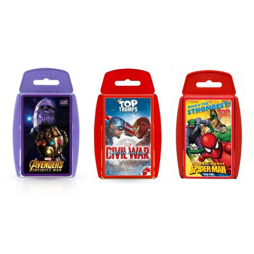 Marvel Top Trumps Bundle - Infinity War, Civil War & Spider Sense
