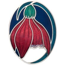 Blue Crocus Brooch Silver Plated Brand New Gift Packaging