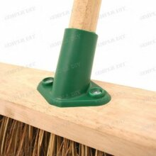 """Plastic Broom Bracket Sweeping Brush Support Stay for 15/16"""" Shaft Handle 2 Hole"""