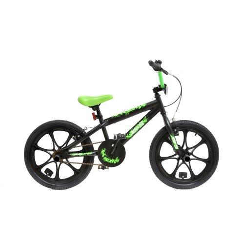 "(Black / Green) XN BMX Freestyle 18"" MAG Wheel Kids Bike 2 Colours"