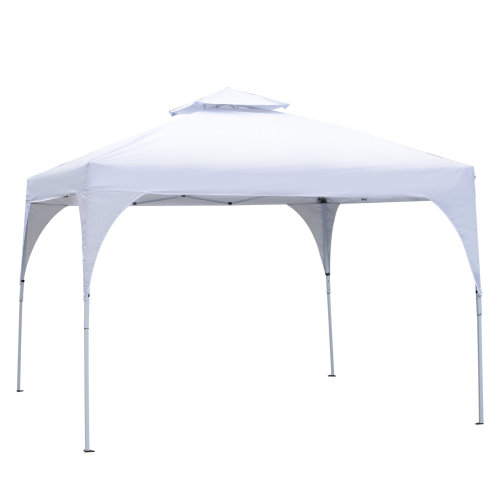 Outsunny 3 x 3 meter Garden Pop Up Gazebo Marquee Party Tent 2 tier Top Folding Wedding Canopy White
