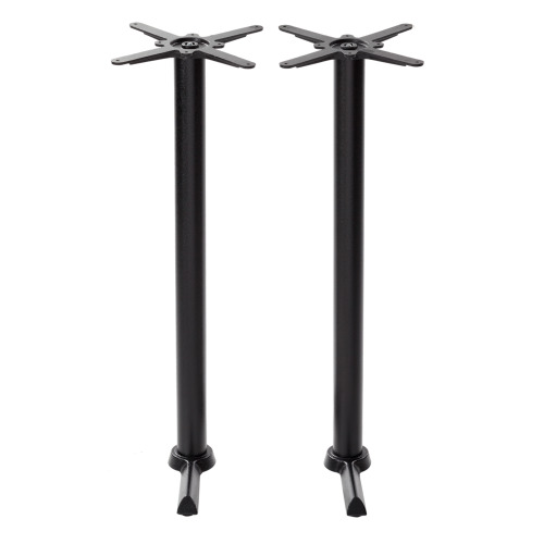 Black cruciform table base - Twin - Poseur height - 1050 mm