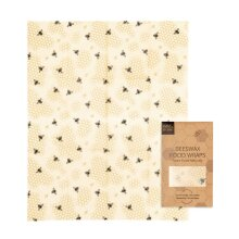 Beeswax Food Wraps - HoneyComb Pattern - 1 Pack (XL Bread Wrap)
