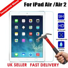 (2 Pack) Ultra Clear 9H Tempered Glass Anti-Fingerprint Anti Shatter HD Screen Protector For Apple iPad AIR 9.7 1st Generation (2013) / 2nd Gen (2014)