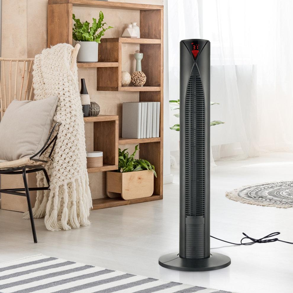 Homcom Oscillating Tower Fan Remote Control 3 Speed