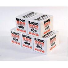 Ilford XP2 400, 35mm 36 exposures 5 rolls