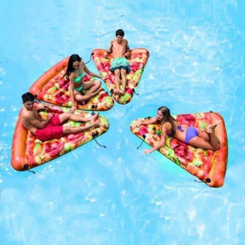 Intex 58752 Pizza Slice Inflatable Floating Pool Mattress