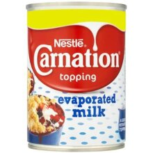 Nestlé Carnation Topping Evaporated Milk 410g Case of 12