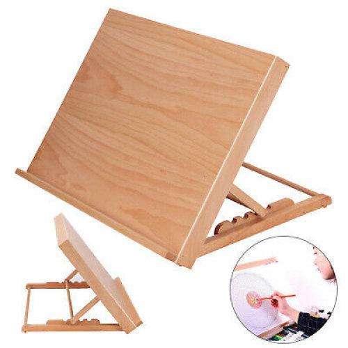 Adjustable Wooden Drawing Board Table Desk Canvas Sketch Easel 30-60°