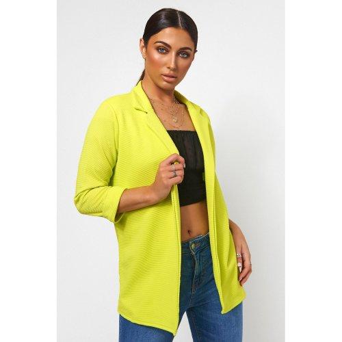 Oversized Neon Lime Boyfriend Blazer