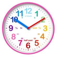 Acctim 22520 Wickford Kids Wall Clock in Pink