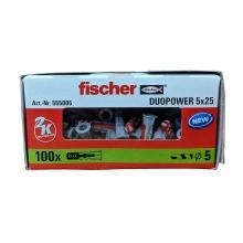 Fischer 555005 Duopower 5mmx25mm Box Of 100