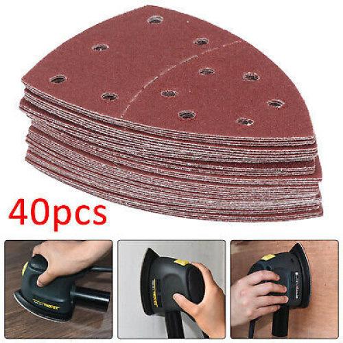 40 Bond Sanding Sheets For Bosch PSM 100A Detail Palm Sander 60 Grit