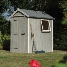 Rowlinsons 6x4 Wooden Heritage Shed | Garden Shed With Window