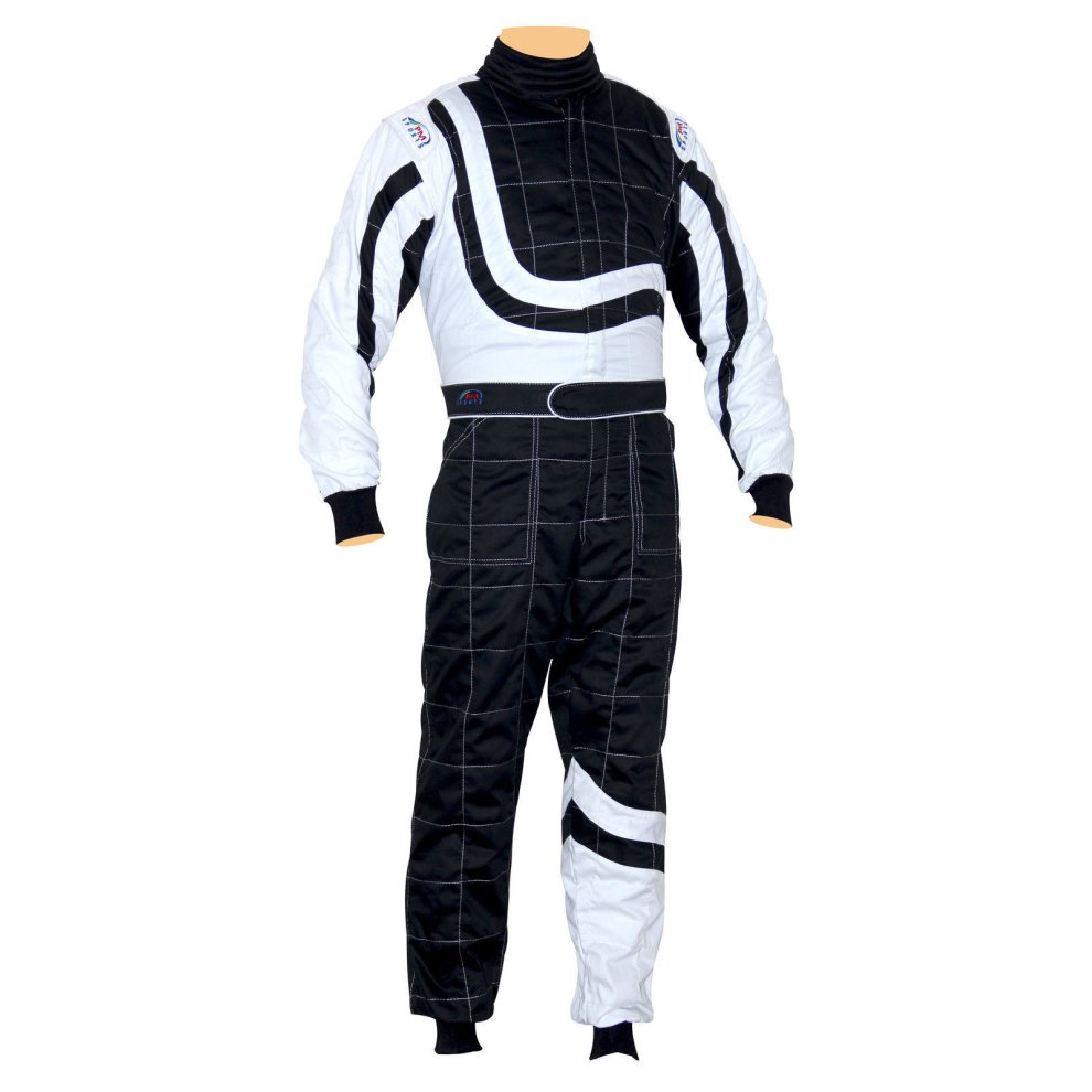 Black /& White, 150 Kids Juniors Karting Race Rally Go Kart Suits Overall One Piece Suit Indoor//Outdoor All Colours