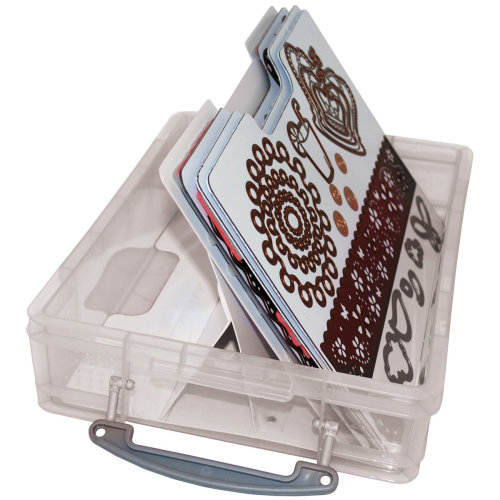 """Zutter Magnetic Die & Stamp Storage Case-14.5""""X10.25""""X3.75"""" Clear"""