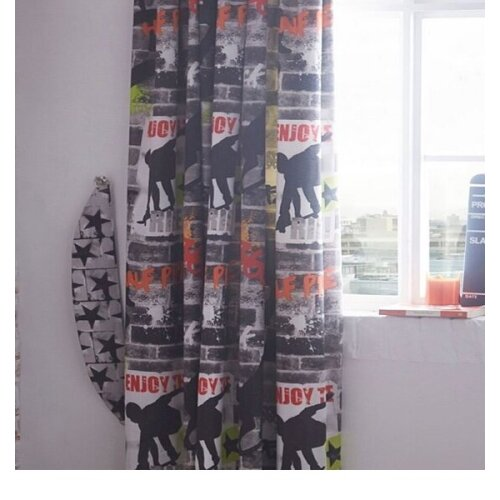 Tricks, Skateboard and Graffiti Curtains