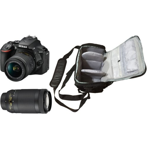 NIKON D5600 +AF-P 18-55MM F3.5-5.6G +AF-P 70-300MM F4.5-6.3 ED VR+Bag