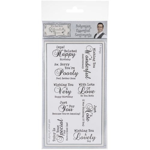Sentimentally Yours By Phill Martin Dl Clear Stamps-Bohemian Essential Sentiments