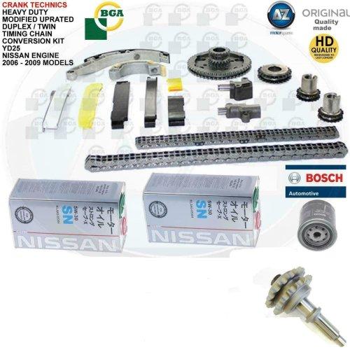 For Nissan Navara Pathfinder 2.5 diesel YD25 BGA Duplex Timing Chain Upgrade kit