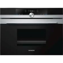 Siemens CD634GBS1B Integrated Single Electric Steam Oven, Black/Steel - Used