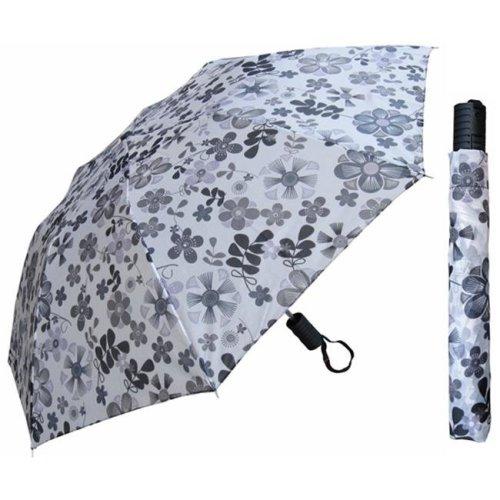 RainStoppers W006 42 in. Auto Open Deluxe Umbrella in Assorted Prints, 12 Piece