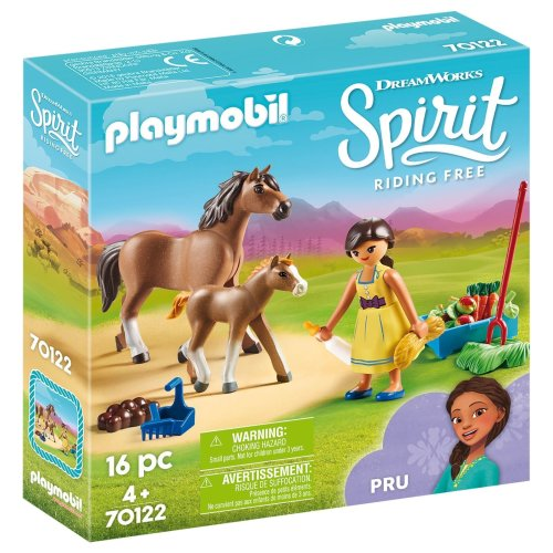 Playmobil 70122 DreamWorks Spirit Pru with Horse and Foal