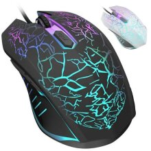 USB Gaming Mouse RGB LED Light Wired Pro Optical With 6D Side Buttons PC Laptop