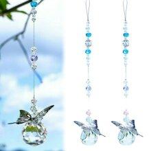 Butterfly Beads Rainbow Hanging Crystal Prism Suncatcher Pendant Window Decor