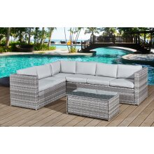 Garden Furniture Rattan Corner Sofa Set Acorn Corner Five-seater set