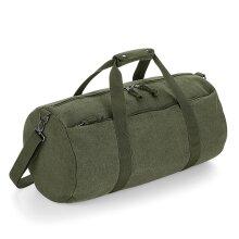 BagBase 24L Vintage Canvas Sports Gym Work Overnight Weekend Duffle Barrel Bag