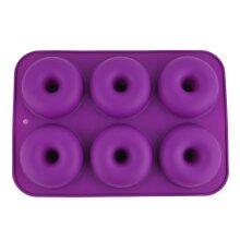 6 Cavity Doughnut Shaped Mould Tray Non Stick Silicone Cooking Mold