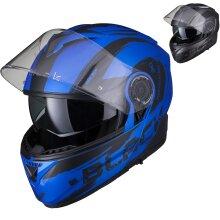 Black Optimus II Destination Flip Front Solid Motorcycle Helmet