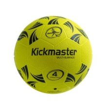 MV Sports Kickmaster Multi Surface Football Size 4  With Micro Dot Surface Ages 5 Years+ Colour Yellow