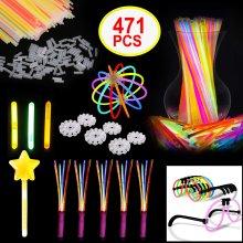 Glow Sticks 471pcs Mega Party Pack Supplies Favour Set Connectors Bracelets
