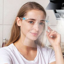 10pcs Safety Full Face Shield Visor Glasses Guard Protection Clear Mask