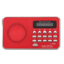 Portable Bible Audio MP3 Player Speaker AUX SD TF Card Port FM Radio For Elders RED