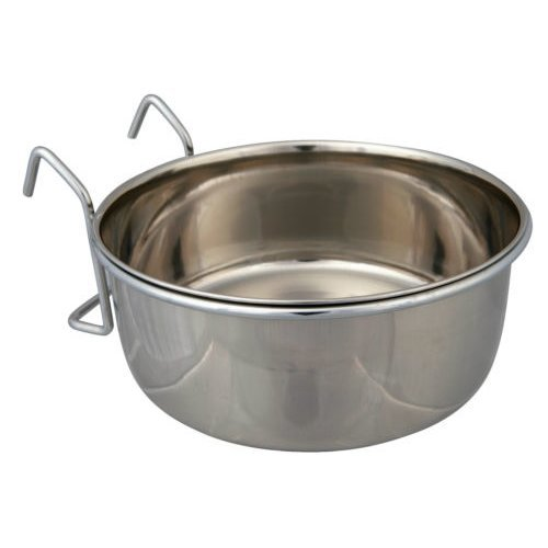Stainless Steel Bowl With Holder, 300 Ml/ø 9cm - Holder Trixie Sizes Bird Cage -  bowl stainless steel holder trixie sizes bird cage coop cup pet