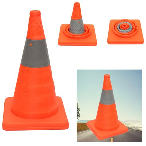 (As Seen on Image) Folding Collapsible, Road Safety Cone For Traffic Pops-Up Parking