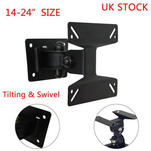14-24inch TV Wall Bracket Tilt Swivel LCD LED Plasma TV Wall Mount Fixed UK