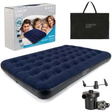Double Air Bed Inflatable Airbed Guest Mattress With Pump And Bag Comfort Quest