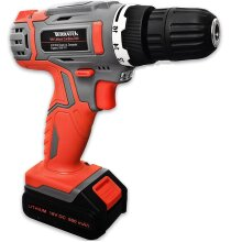 Terratek 18V Lithium-Ion Cordless Drill | 13 Piece Electric Drill Set