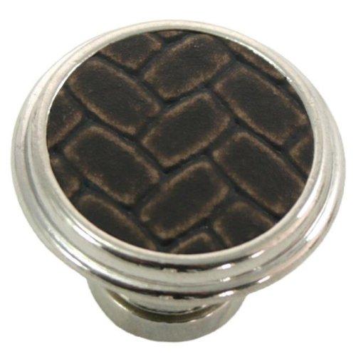 Laurey 12098 1.13 in. Round Knob - Polished Nickel & Brown