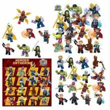 16pcs Marvel Super Heroes Fit Lego Avengers Infinity War Mini Figures