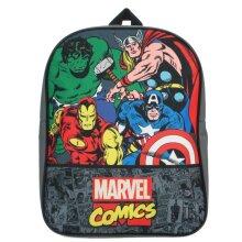Marvel Comics Backpack | Thor, Hulk, Captain America & Iron Man