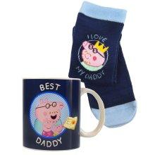 Peppa Pig Best Daddy Mug & Sock Set