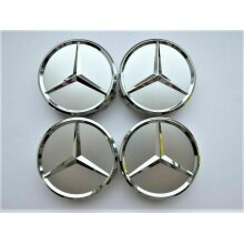 Mercedes Benz Alloy Wheel Centre Caps Full Chrome Badge Emblem 65mm(4)