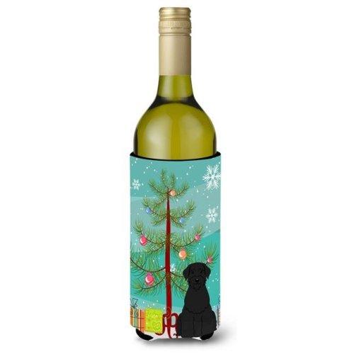 Merry Christmas Tree Giant Schnauzer Wine Bottle Beverge Insulator Hugger